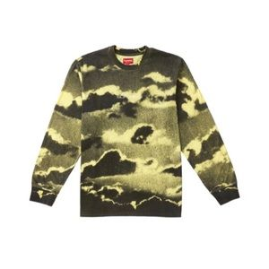 Supreme Clouds Long Sleeve Tee Pale Yellow Size M